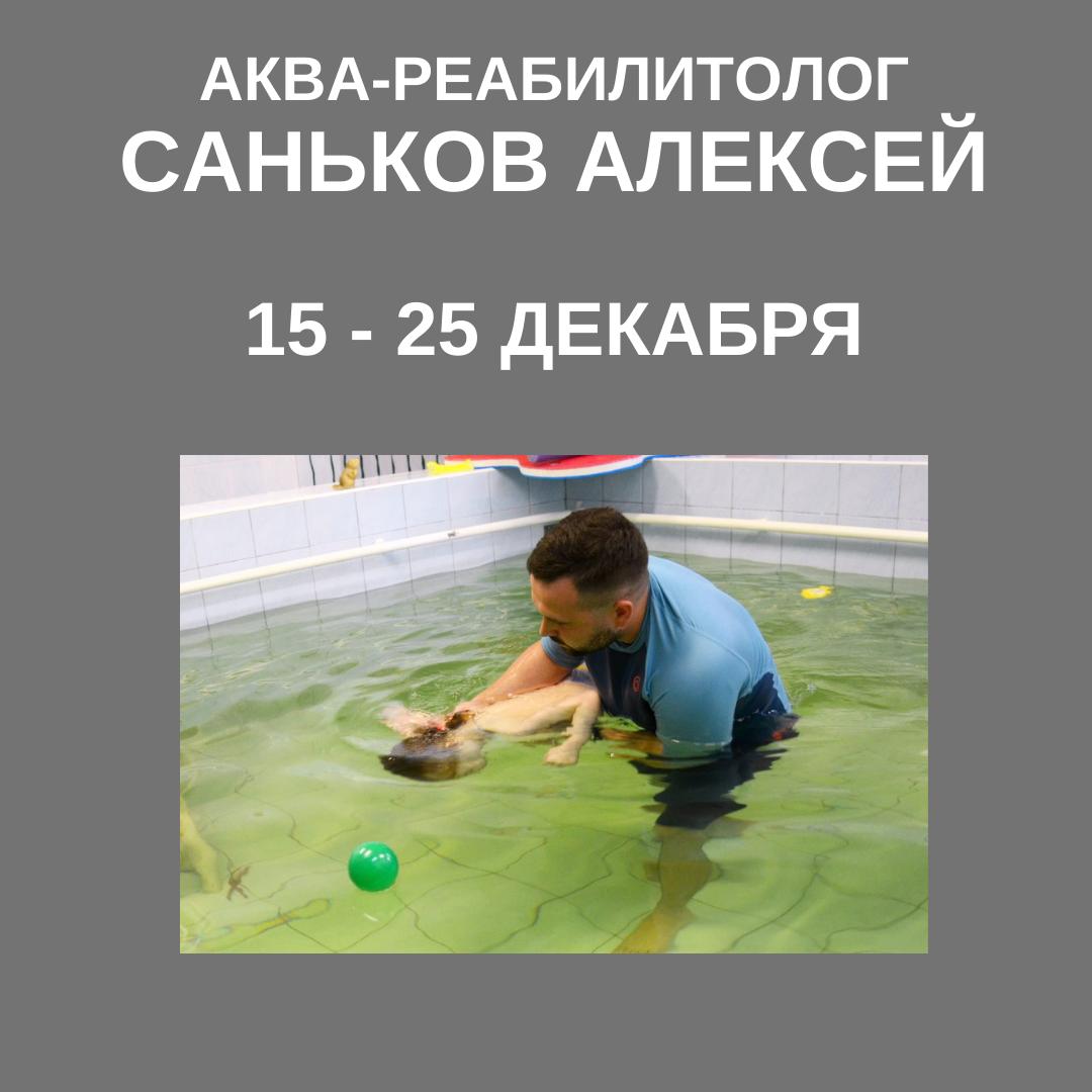 15 — 25 декабря — курс по аква-терапии с Саньковым Алексеем